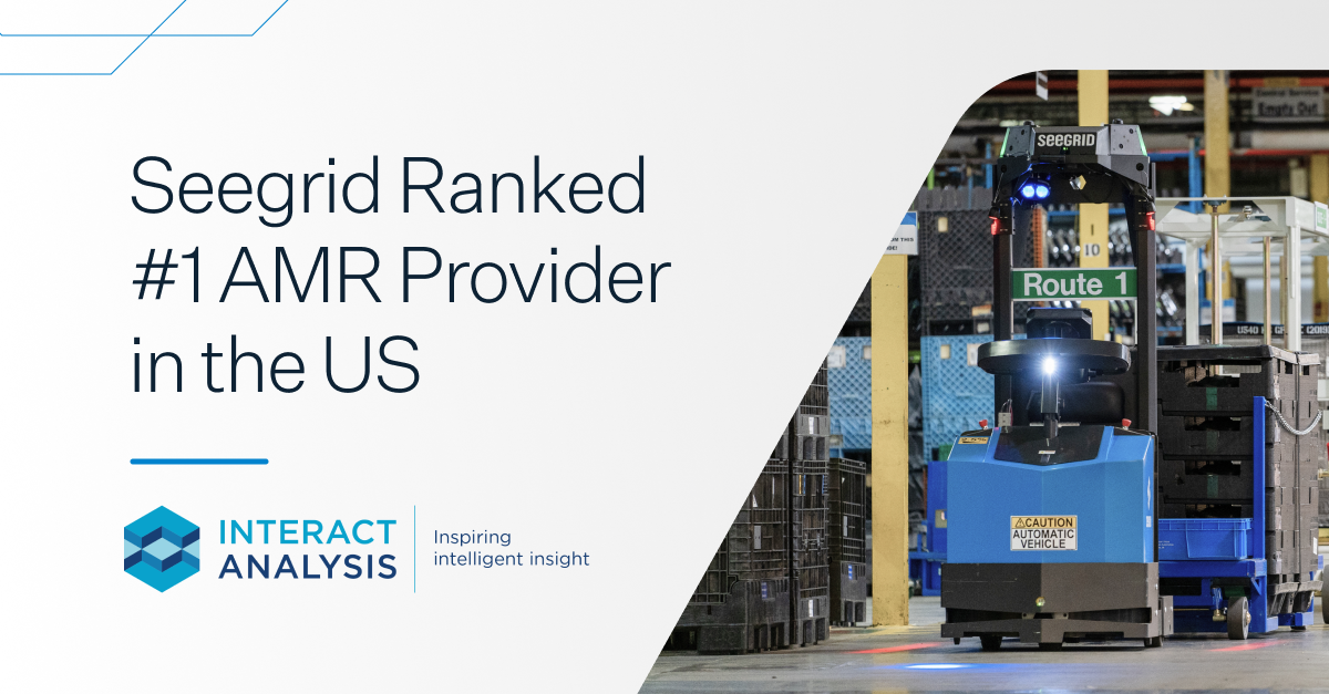 Seegrid ranked number 1 autonomous mobile robot provider in the U.S.