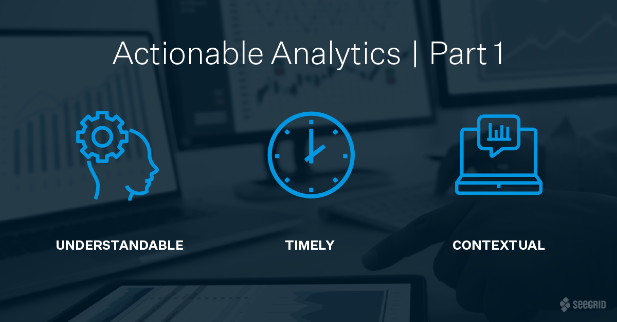 Actionable Analytics | Part One - Understandable, Timely, Contextual