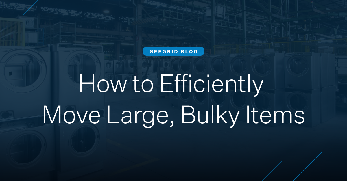 The rise of non-conveyable items and supply chain complexities. How to efficiently move large, bulky items.