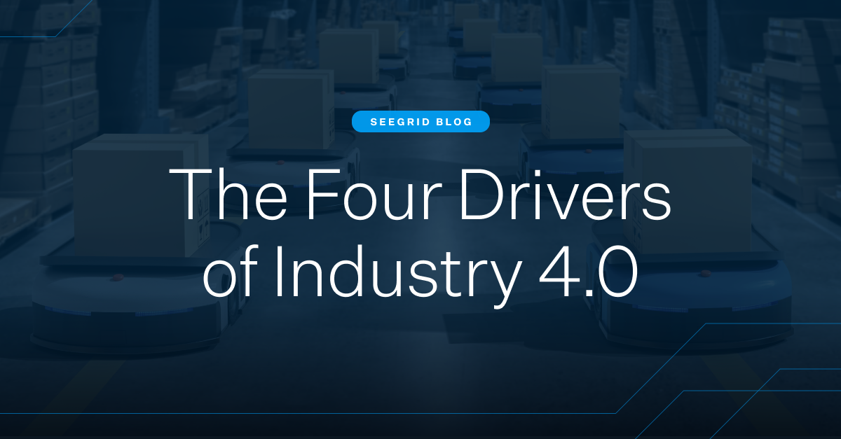The four drivers of Industry 4.0 for manufacturing, warehouse, and distribution material handing facilities. Learn about Industry 4.0 and how AI, IIoT, big data, & cloud computing will drive the future of facility management.